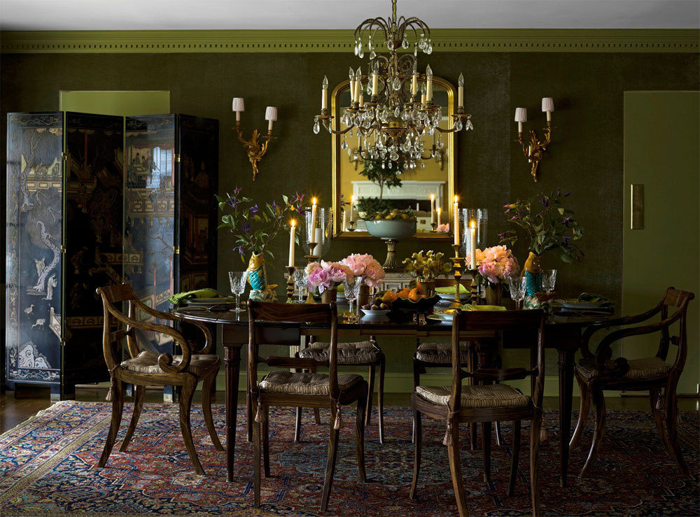 Color crush chartreuse jefferson jane for Olive green dining room ideas