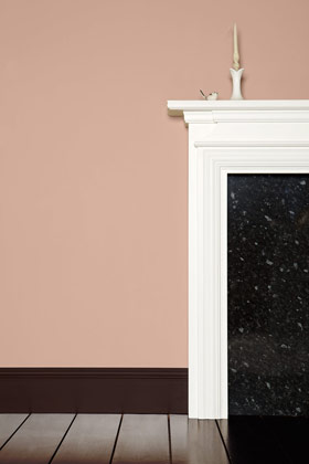 contrasting with a traditional mantel